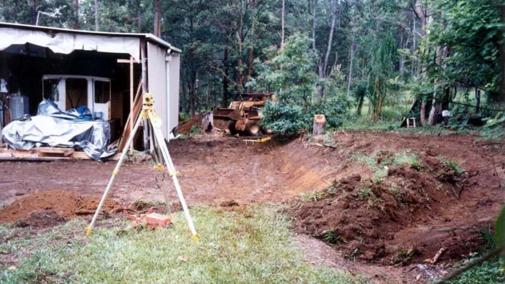building-shed-leveling-ground