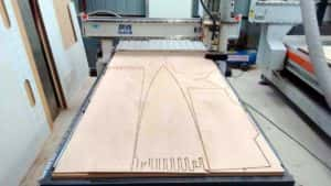 ply parts ready to cut - CNC