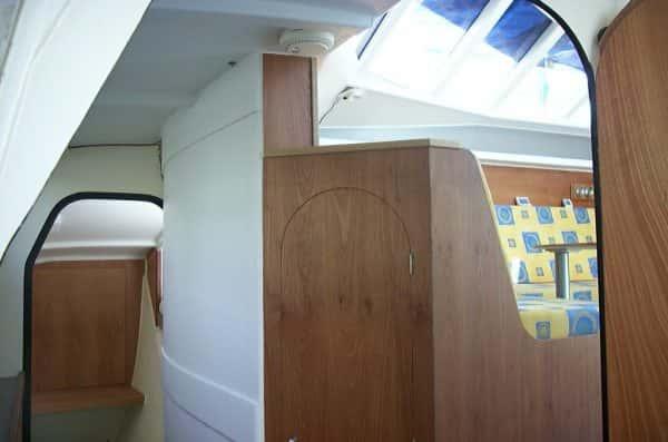 Daggerboard Case Inside hull