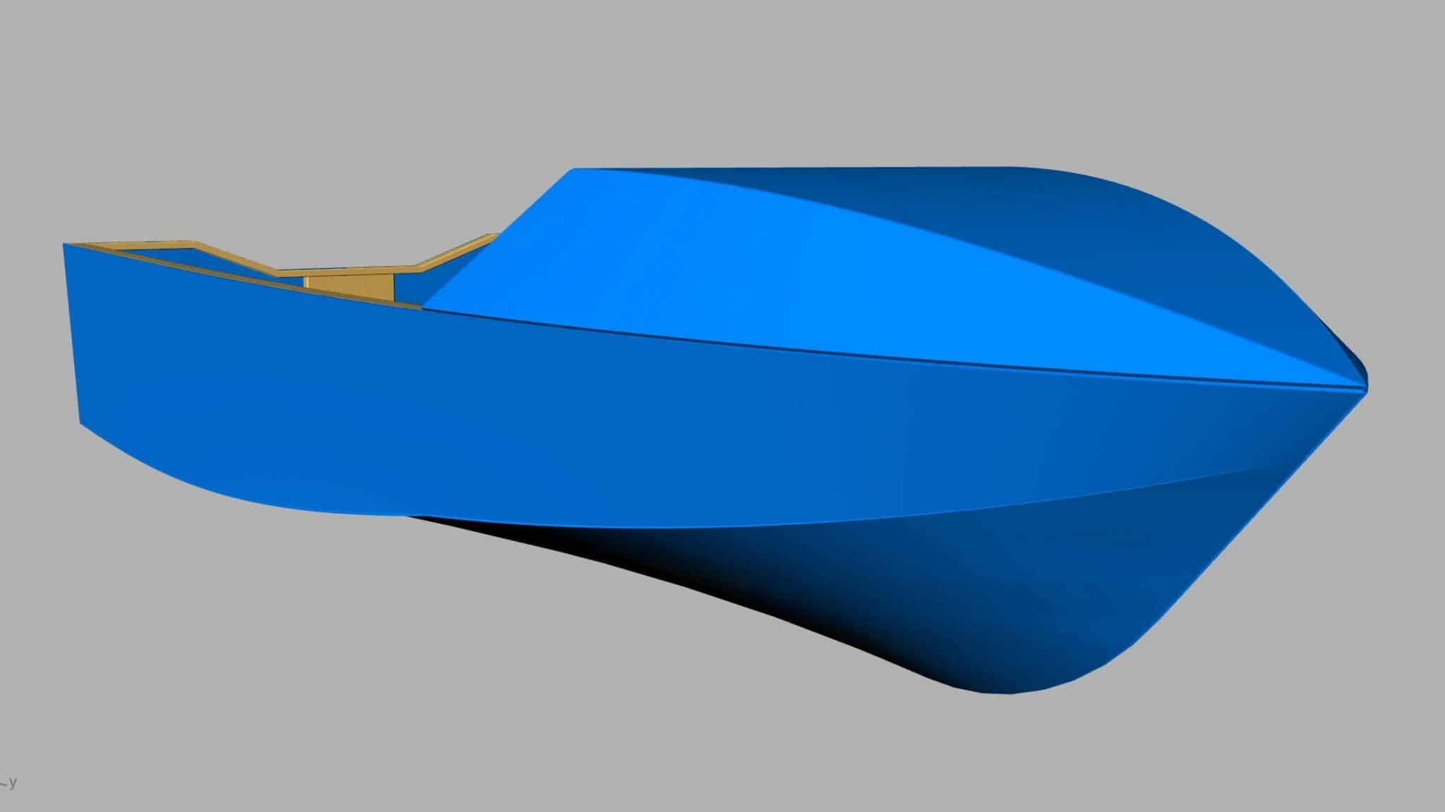 Plywood boat - CAD drawing